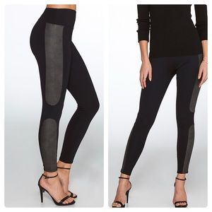 NWOT Spanx Faux Leather Panel Leggings